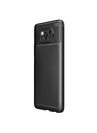Microsonic Xiaomi Poco X3 Pro Kılıf Legion Series Kahverengi Siyah
